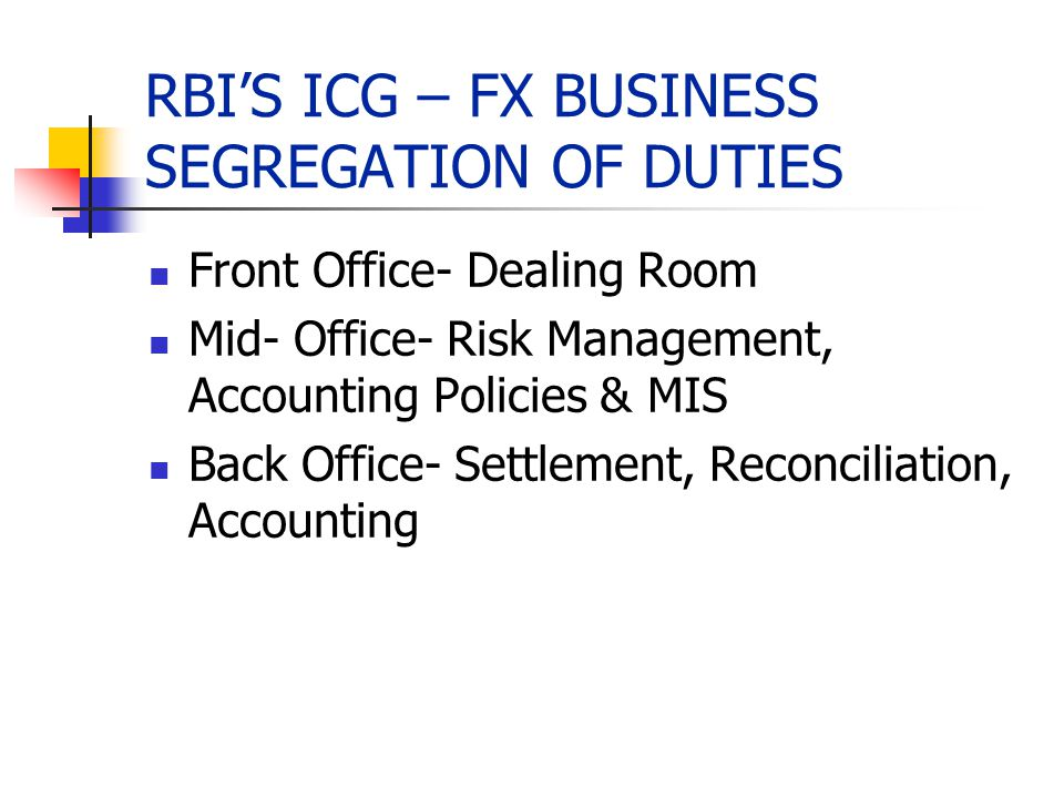 Forex dealing room operations ppt