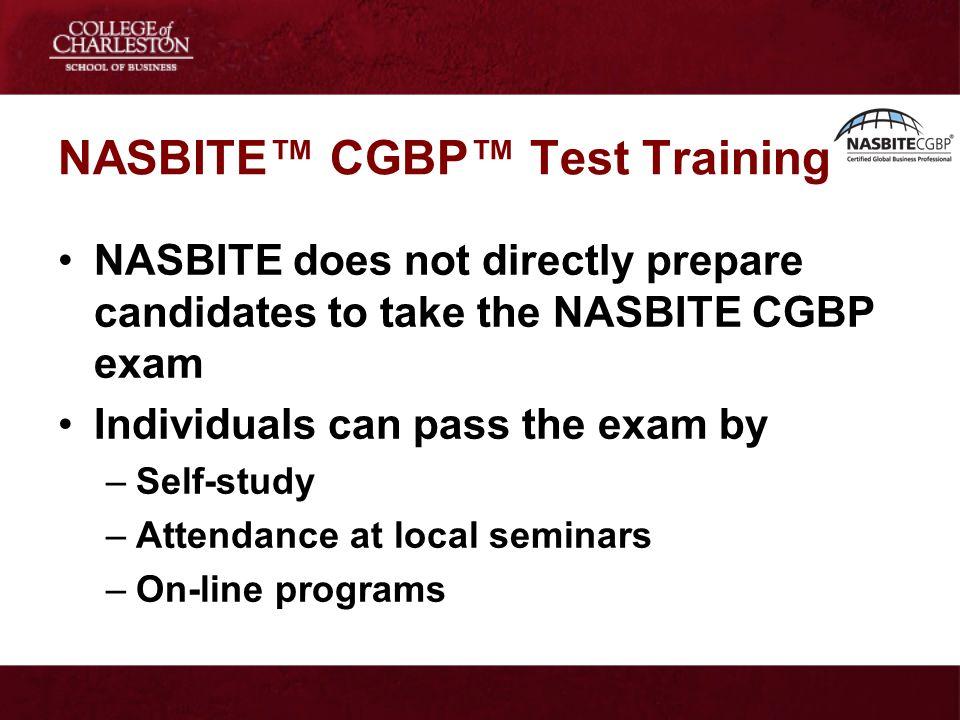 NASBITE™ CGBP™ Test Training