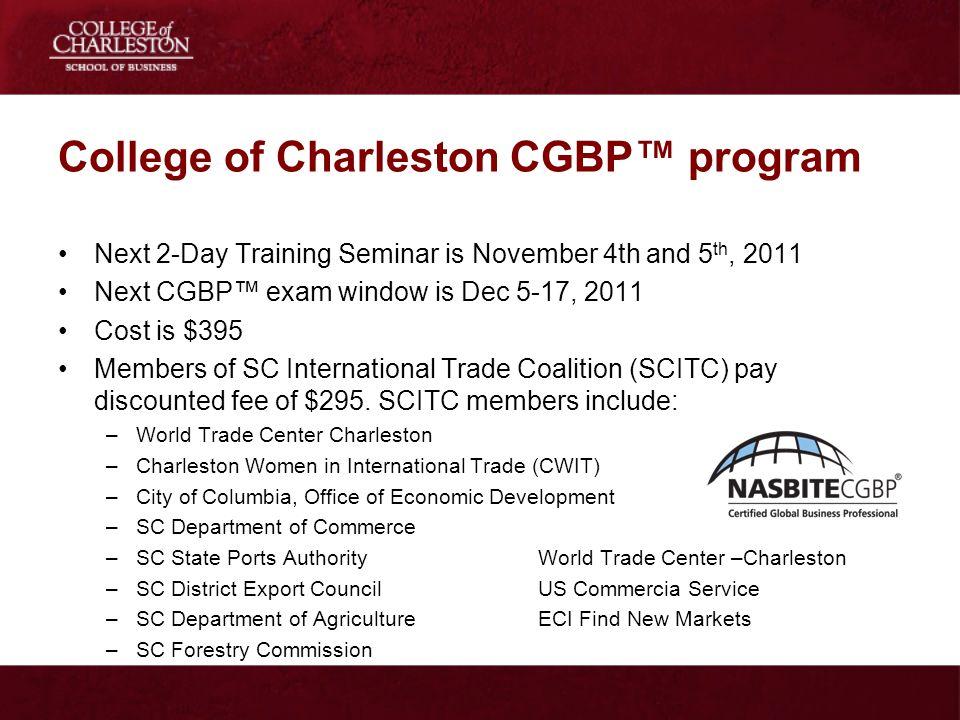 College of Charleston CGBP™ program