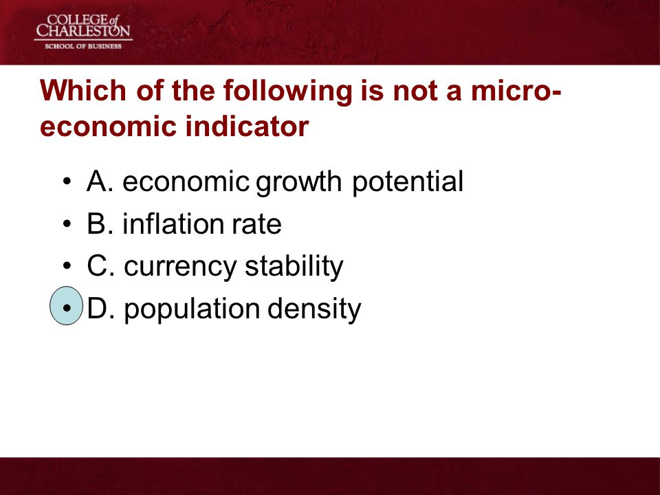 Which of the following is not a micro-economic indicator