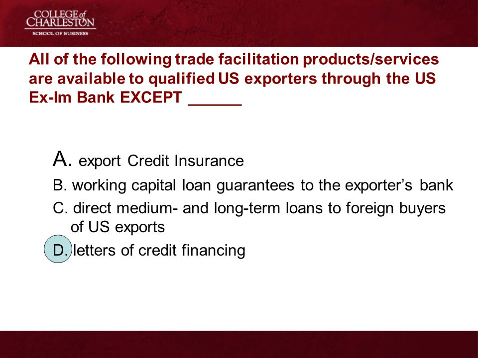 A. export Credit Insurance