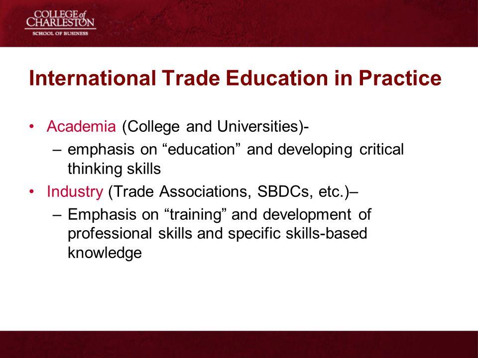 International Trade Education in Practice
