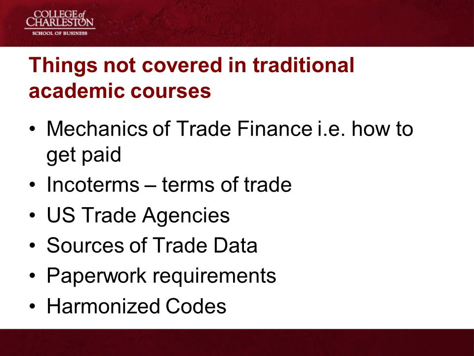 Things not covered in traditional academic courses
