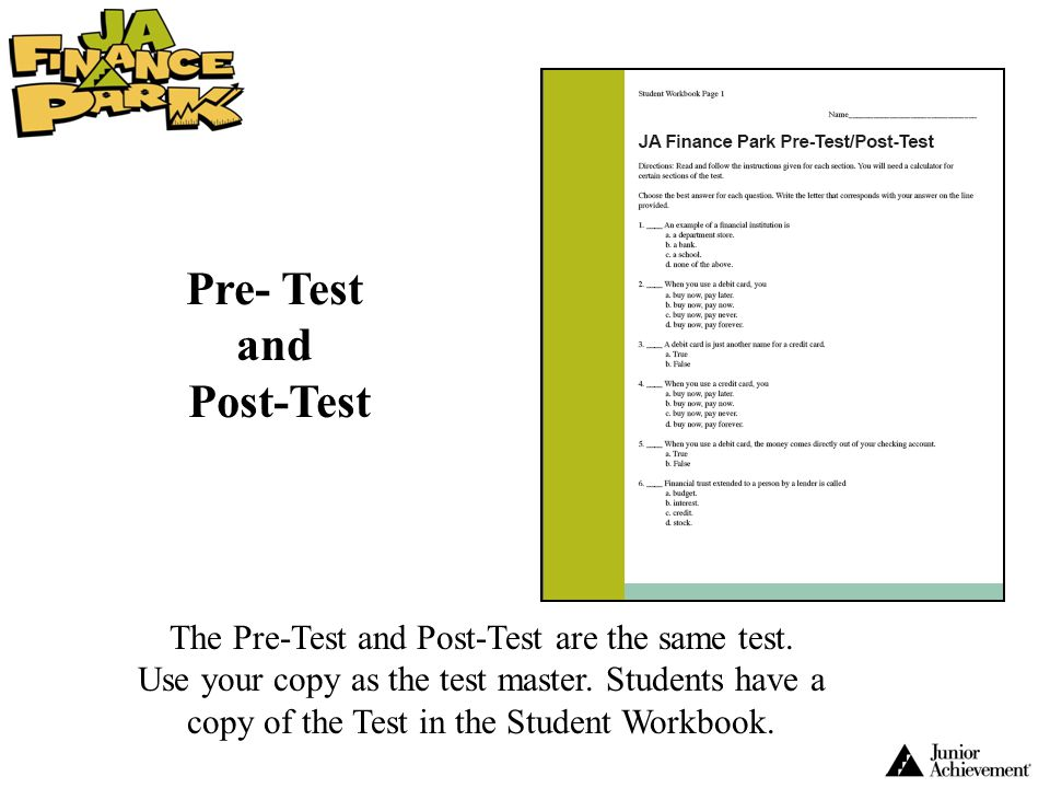 Pre- Test and Post-Test
