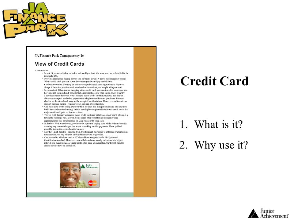Credit Card What is it Why use it