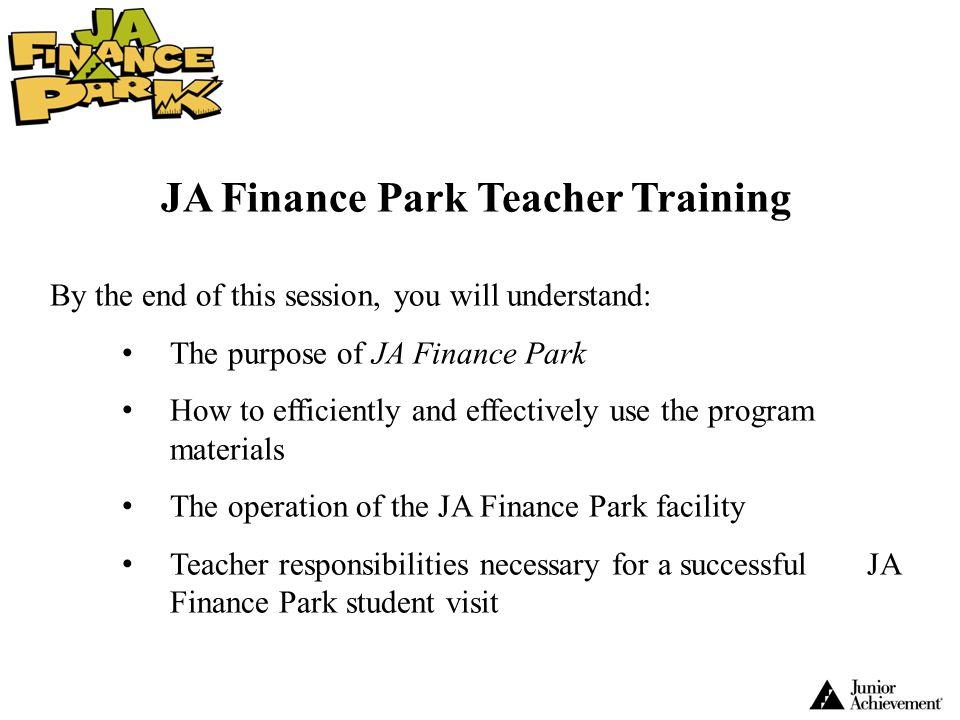 JA Finance Park Teacher Training