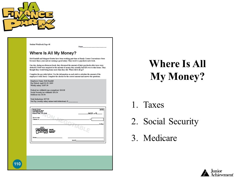 Where Is All My Money Taxes Social Security Medicare
