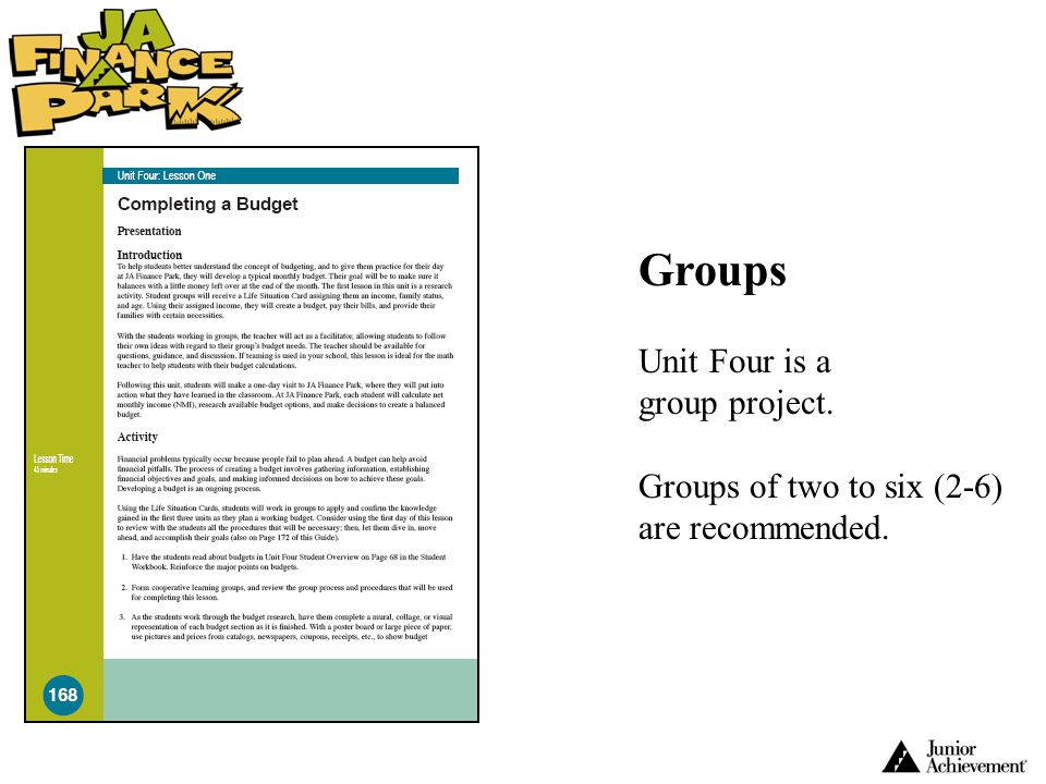 Groups Unit Four is a group project.