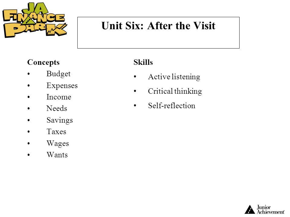 Unit Six: After the Visit