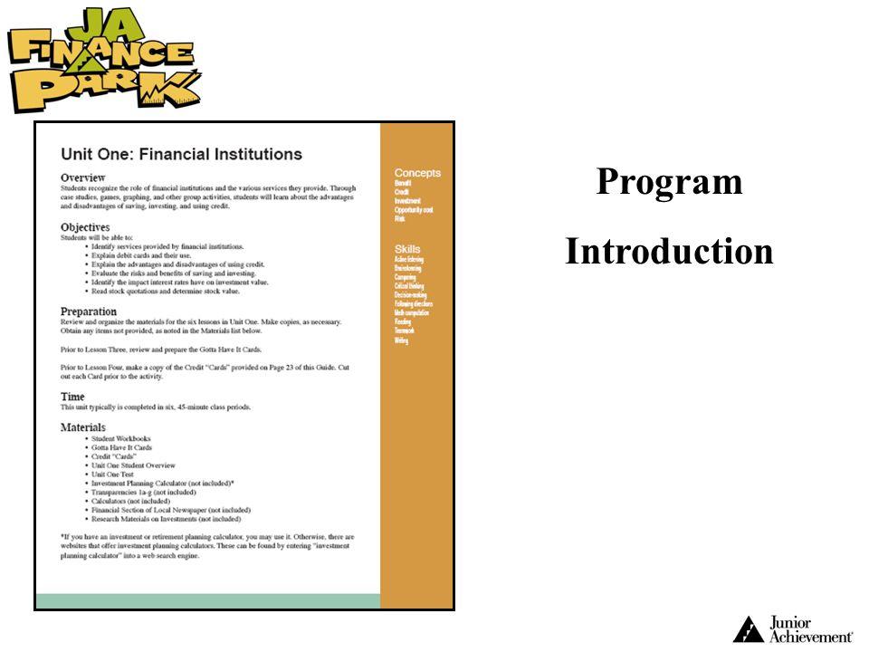 Program Introduction.
