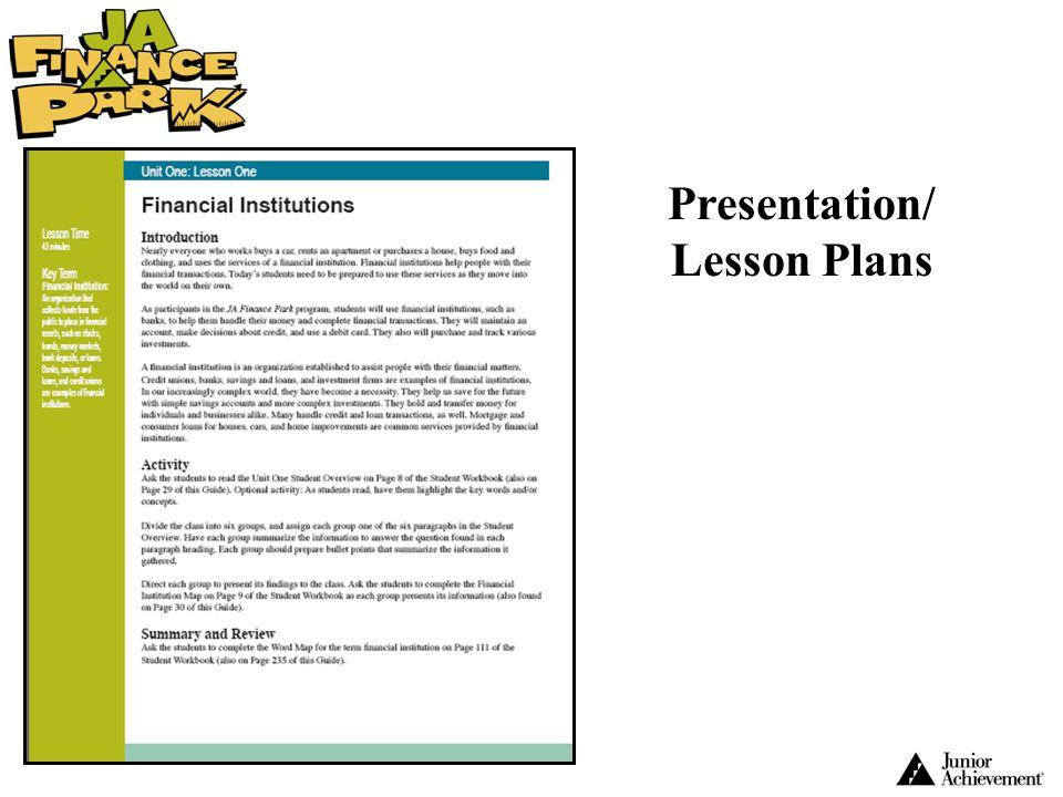 Presentation/ Lesson Plans
