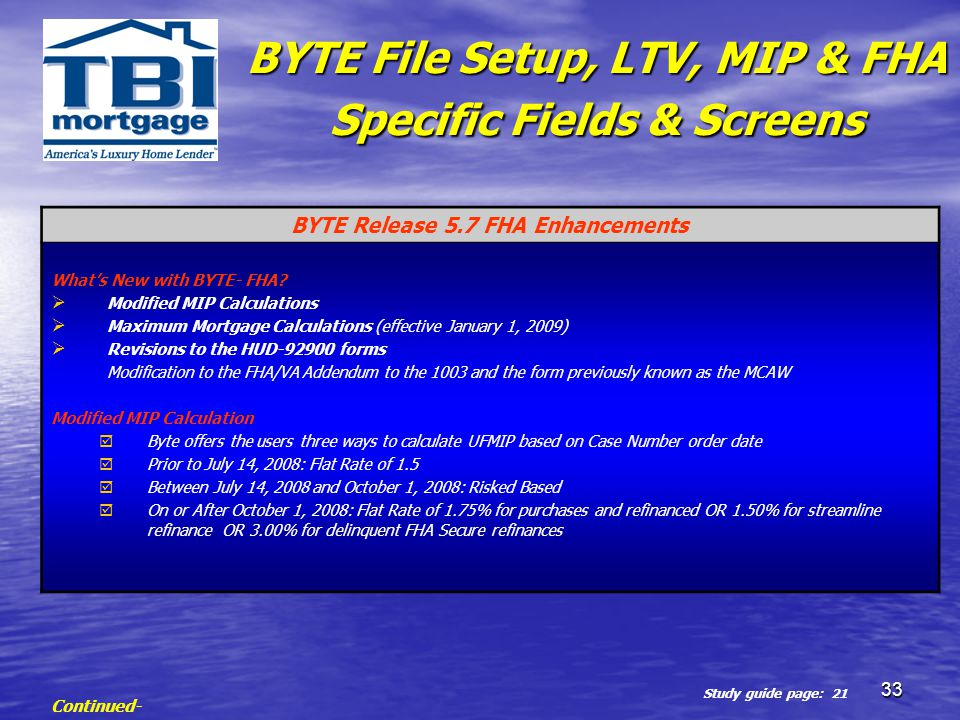 FHA-TBI ORIGINATION PROCESS - ppt download