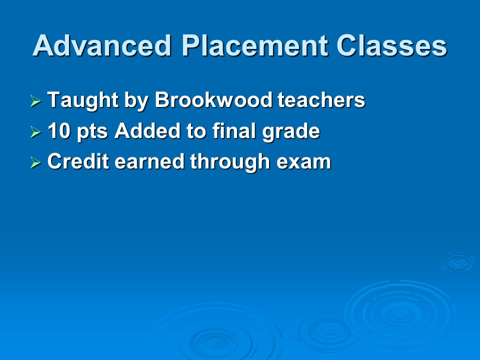 Advanced Placement Classes