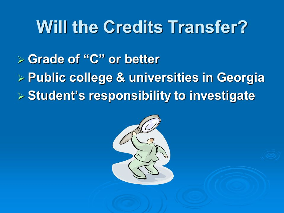 Will the Credits Transfer