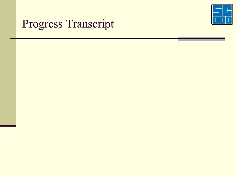 Progress Transcript