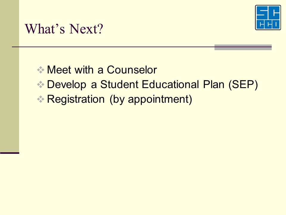What's Next Meet with a Counselor