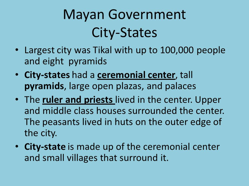 Mayan Government City-States