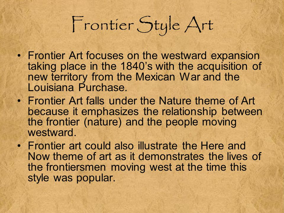 Frontier Style Art
