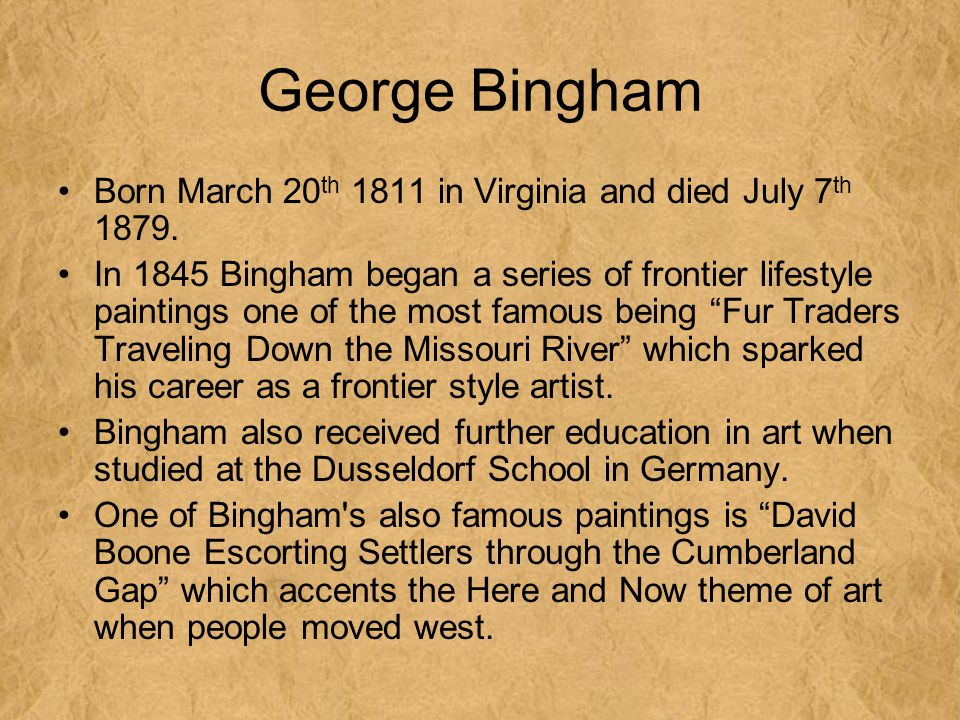 George Bingham Born March 20th 1811 in Virginia and died July 7th 1879.