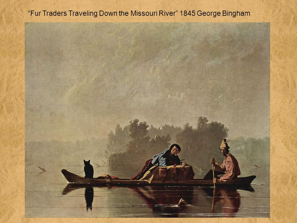 Fur Traders Traveling Down the Missouri River 1845 George Bingham
