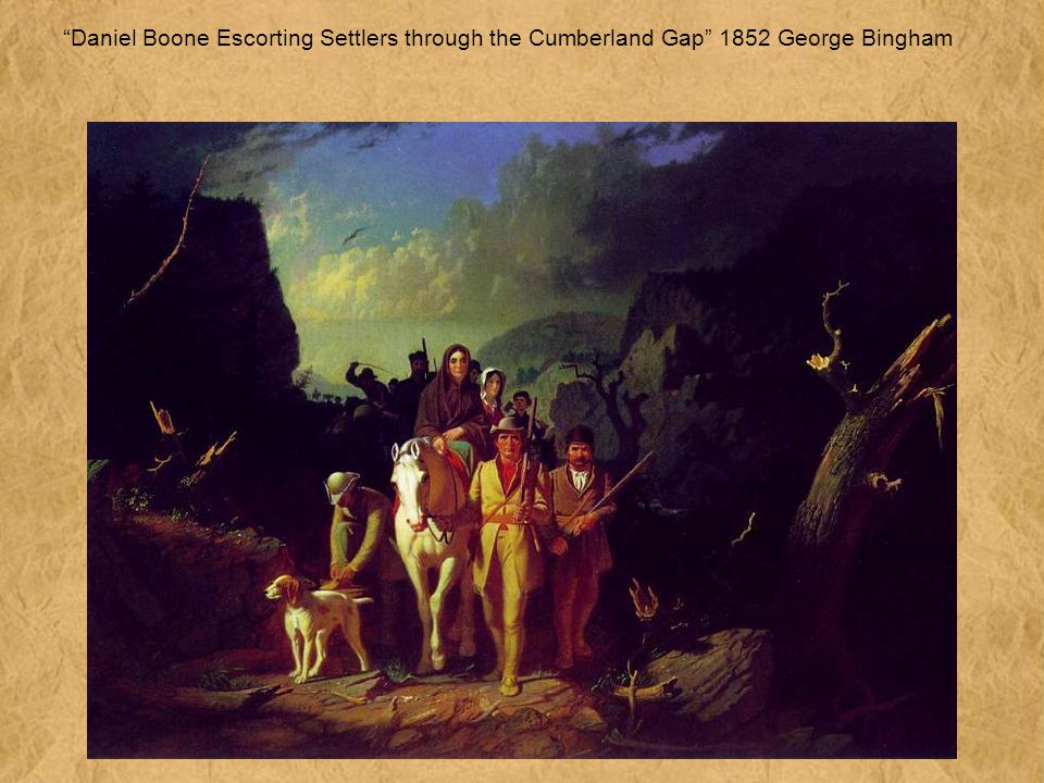 Daniel Boone Escorting Settlers through the Cumberland Gap 1852 George Bingham