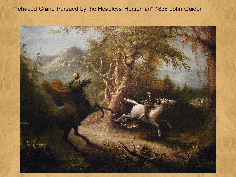 Ichabod Crane Pursued by the Headless Horseman 1858 John Quidor