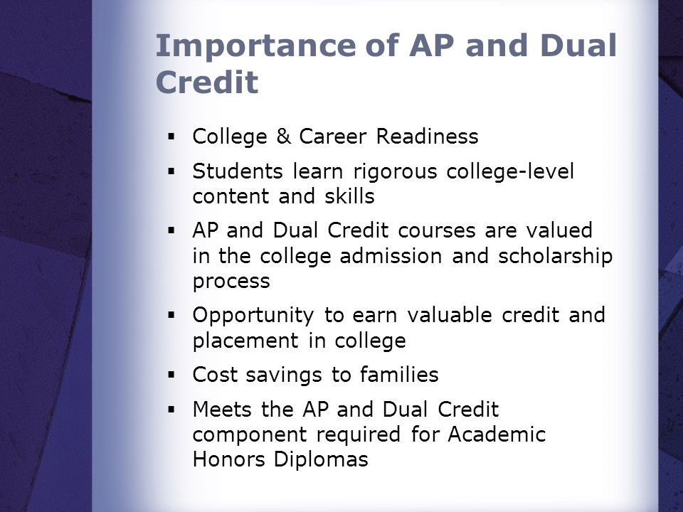 Importance of AP and Dual Credit