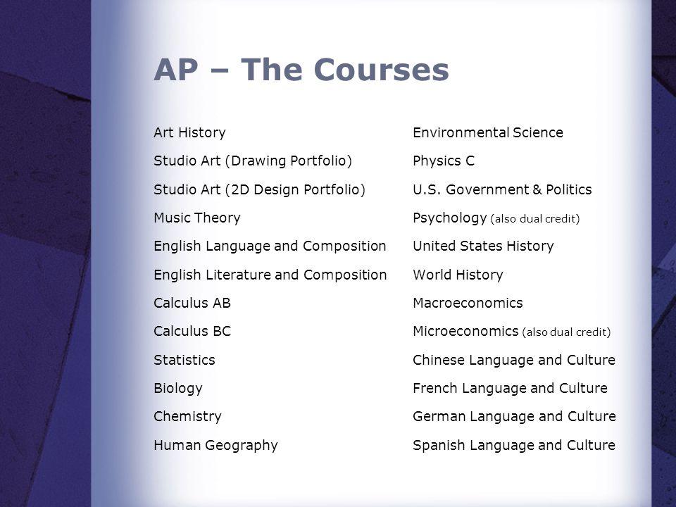 AP – The Courses Art History Studio Art (Drawing Portfolio)