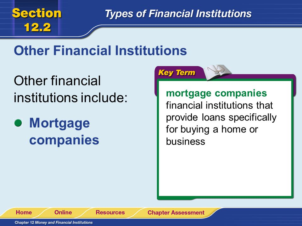 Other Financial Institutions