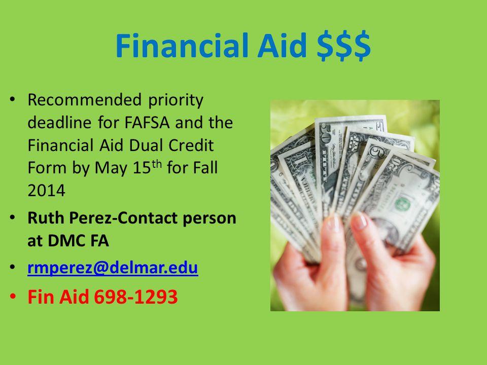 Financial Aid $$$ Fin Aid 698-1293