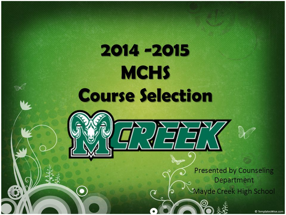 2014 -2015 MCHS Course Selection