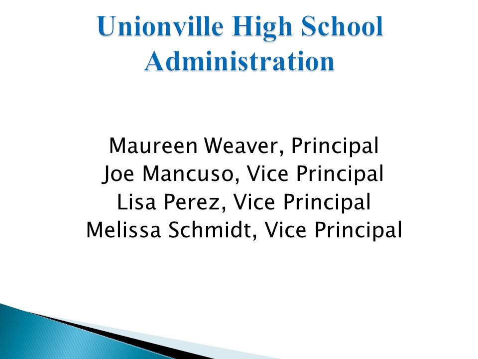 Unionville High School Administration