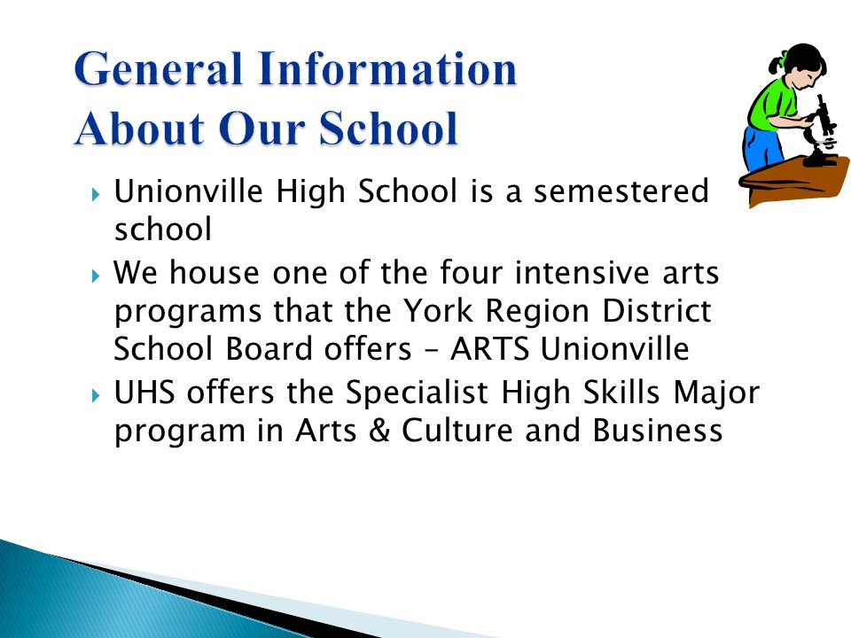 General Information About Our School