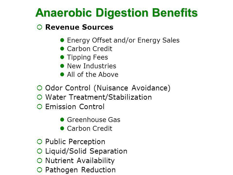 Anaerobic Digestion Benefits