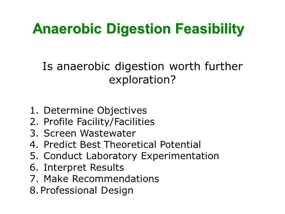 Anaerobic Digestion Feasibility