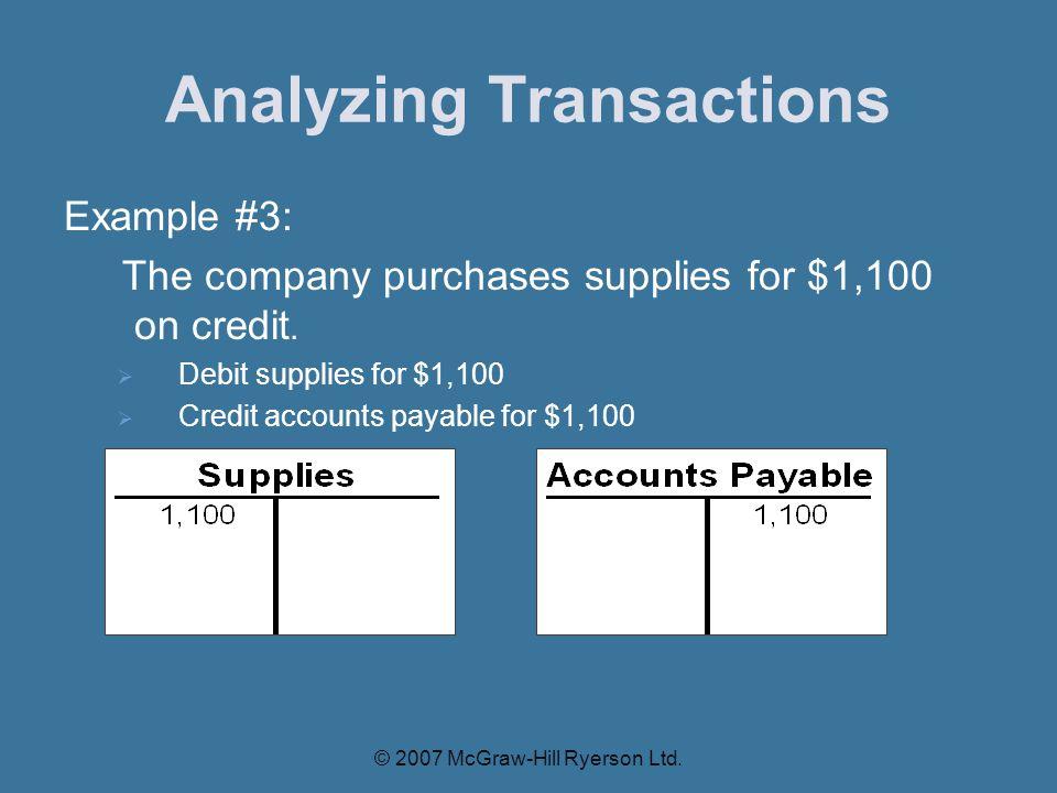 Analyzing Transactions