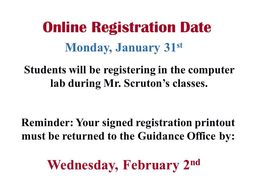 Online Registration Date