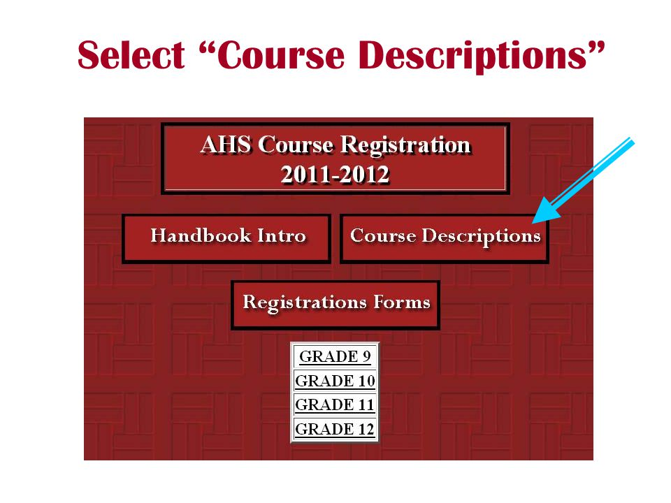 Select Course Descriptions