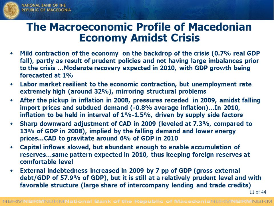 The Macroeconomic Profile of Macedonian Economy Amidst Crisis