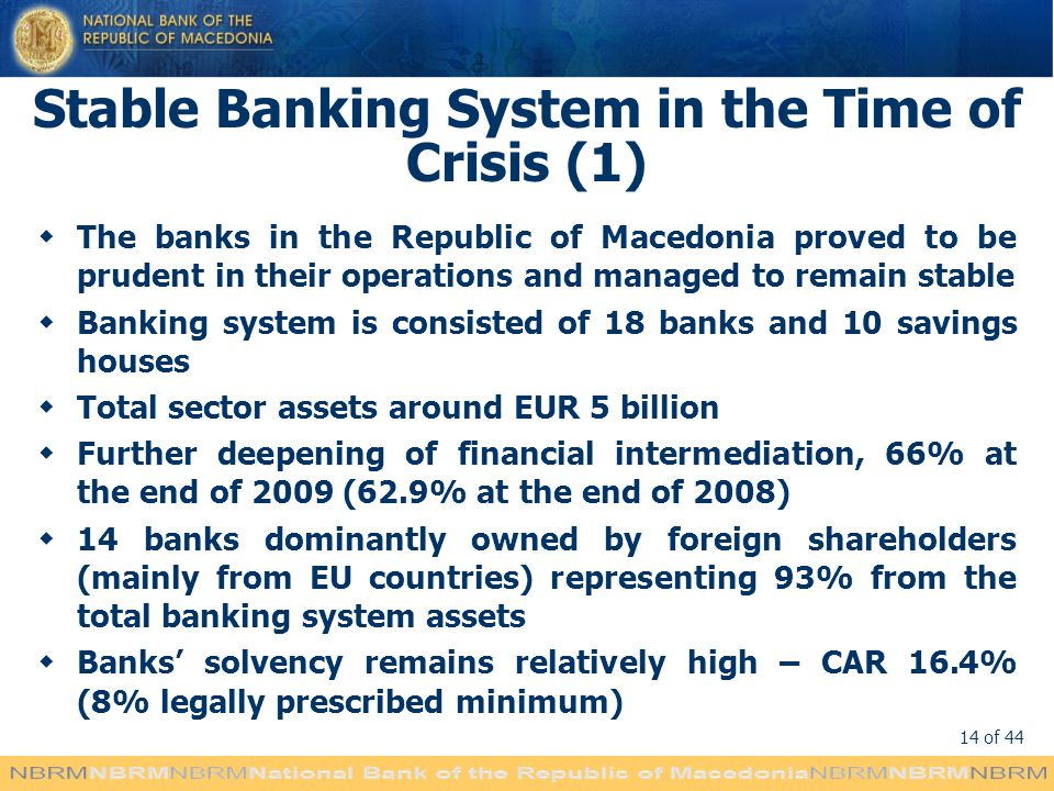 Stable Banking System in the Time of Crisis (1)