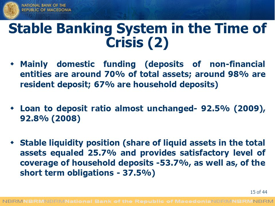 Stable Banking System in the Time of Crisis (2)