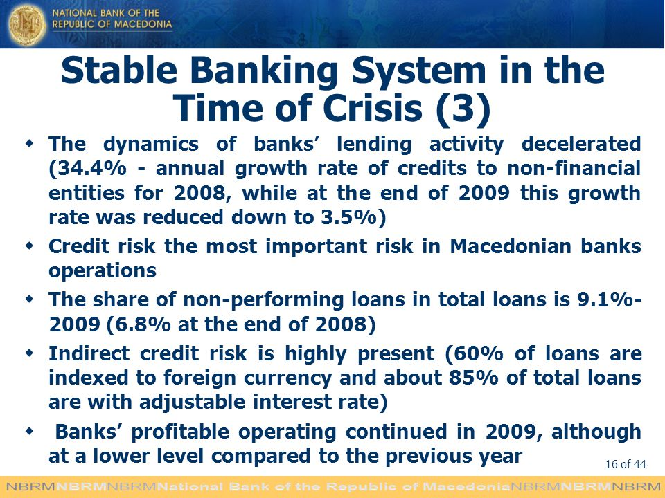 Stable Banking System in the Time of Crisis (3)