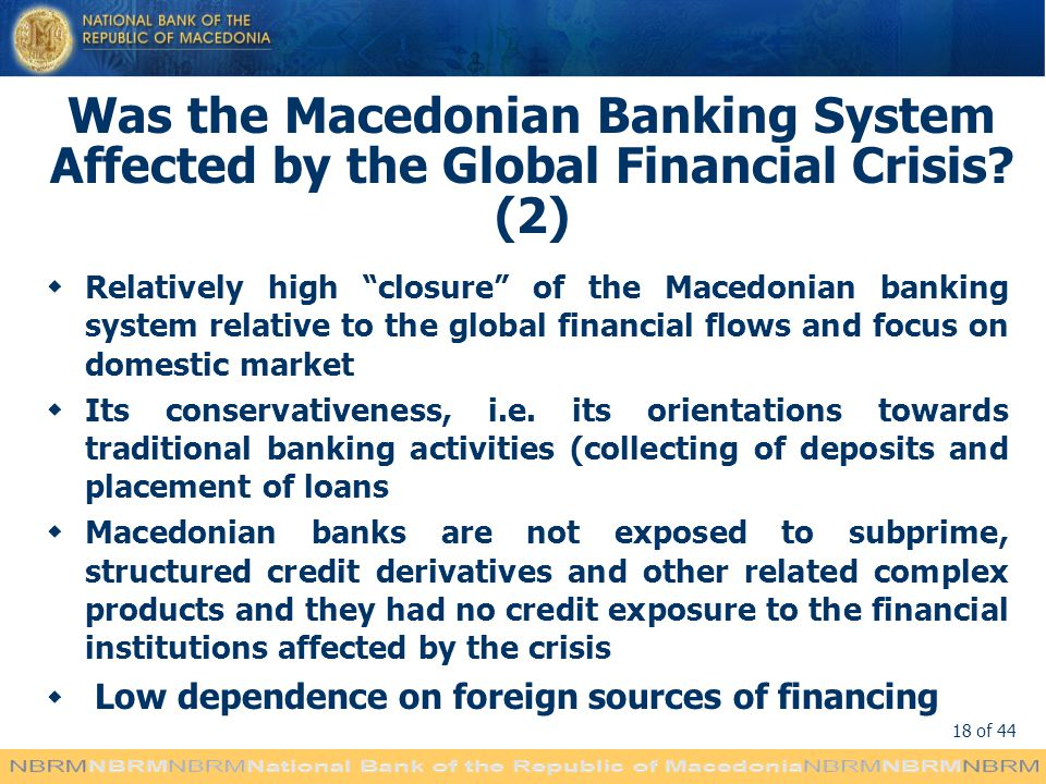 Was the Macedonian Banking System Affected by the Global Financial Crisis (2)