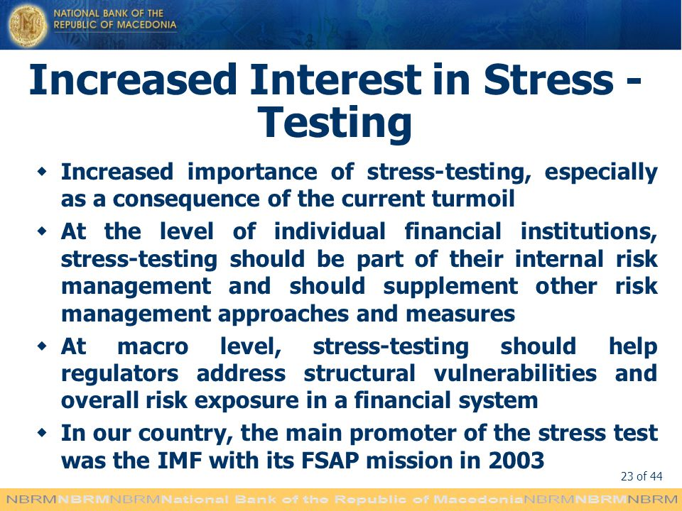 Increased Interest in Stress - Testing