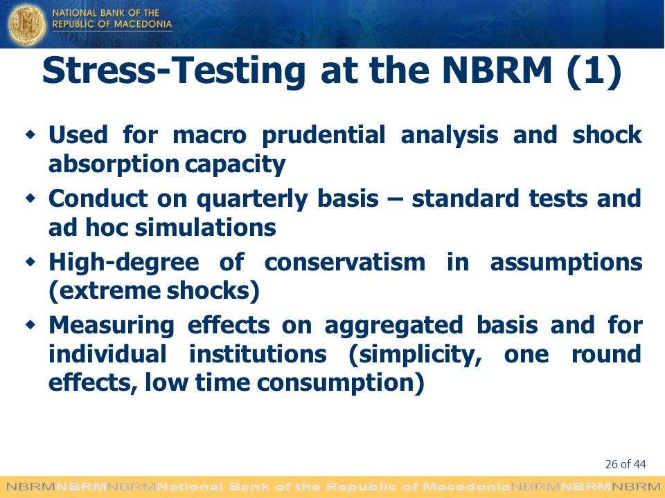 Stress-Testing at the NBRM (1)