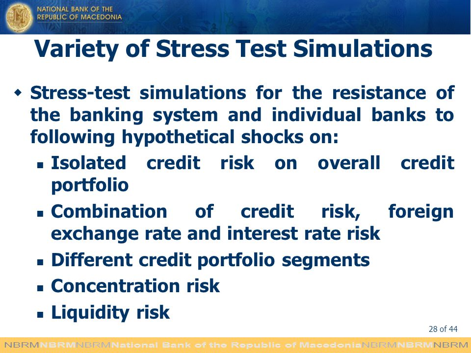 Variety of Stress Test Simulations