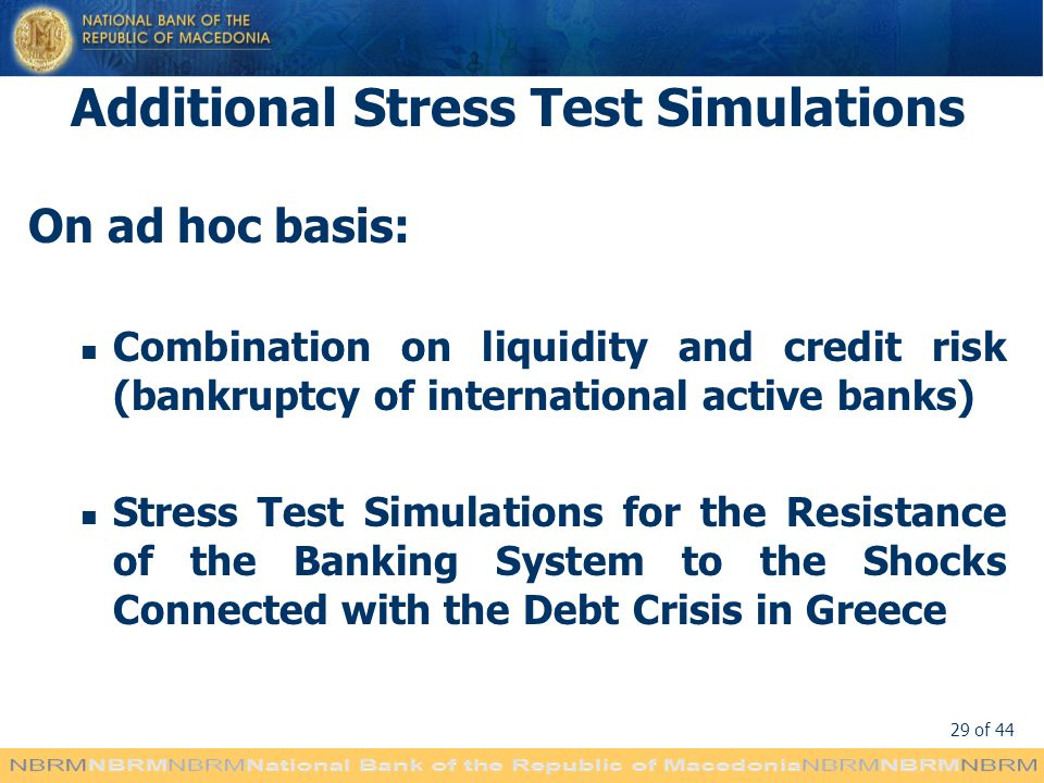 Additional Stress Test Simulations