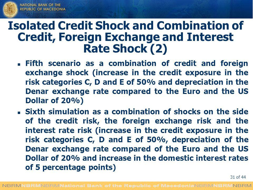 Isolated Credit Shock and Combination of Credit, Foreign Exchange and Interest Rate Shock (2)