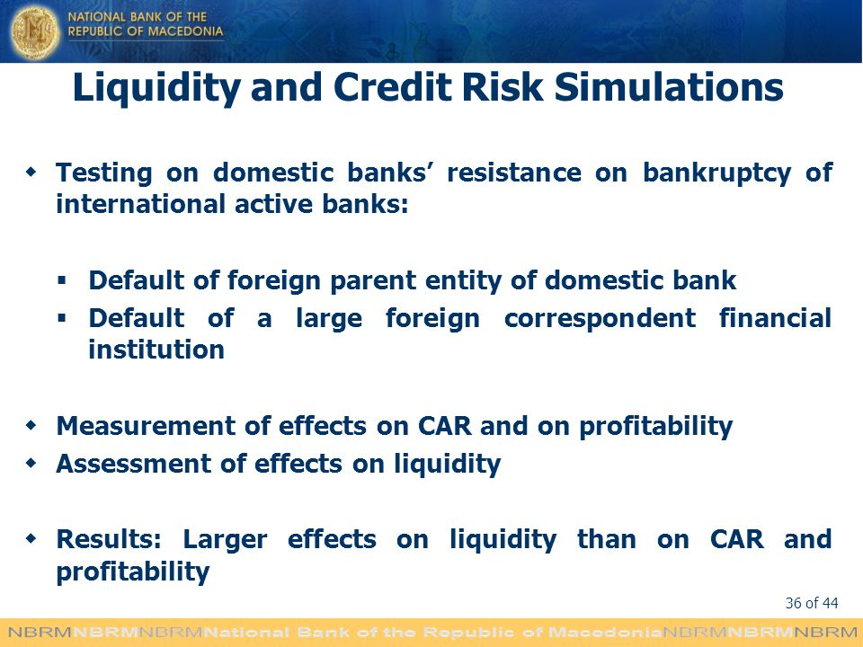 Liquidity and Credit Risk Simulations