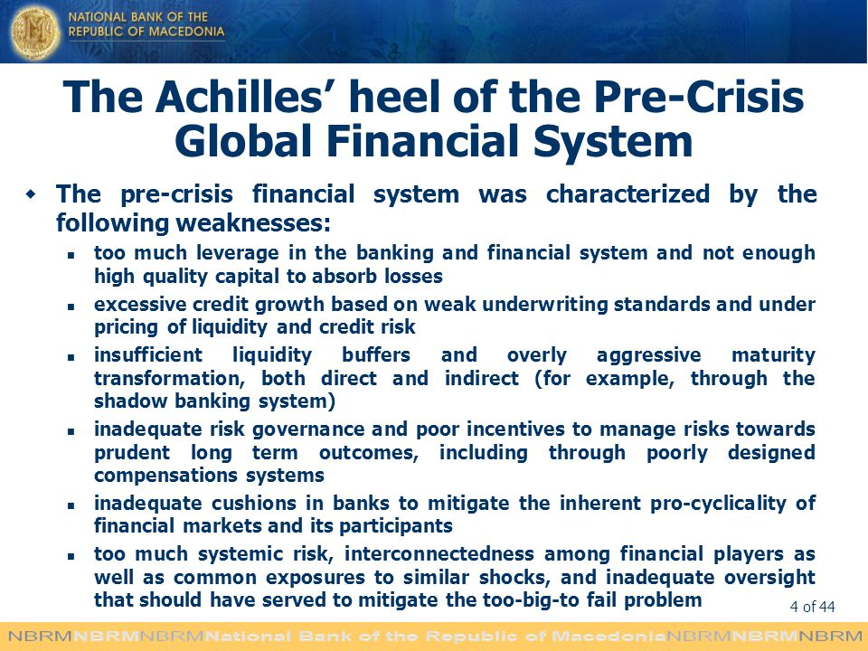 The Achilles' heel of the Pre-Crisis Global Financial System